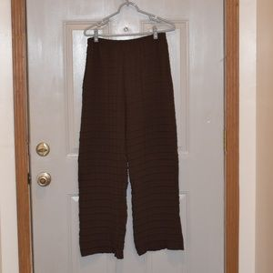 Babette Brown Pleated Dress Pants Sz XL